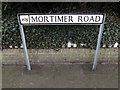 TQ8092 : Mortimer Road sign by Adrian Cable