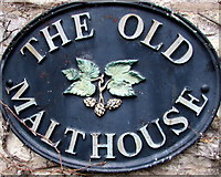 ST6976 : The Old Malthouse name sign, Pucklechurch by Jaggery