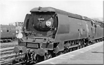 TQ2775 : Bulleid Light Pacific passing Clapham Junction on an express , 1966 by Ben Brooksbank