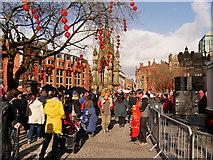 SJ8398 : Albert Square, Chinese New Year Celebrations by David Dixon
