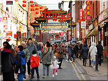 SJ8497 : Manchester Chinatown, Faulkner Street by David Dixon