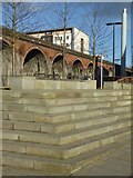 SO8455 : Steps and railway viaduct by Philip Halling