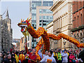 SJ8497 : Dragon Parade, Manchester Princess Street by David Dixon