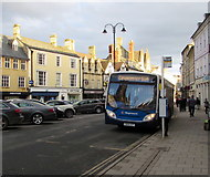 SP0202 : Stagecoach bus in Market Place, Cirencester by Jaggery