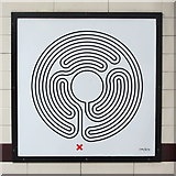 TQ2785 : Belsize Park tube station - Labyrinth 179 by Mike Quinn