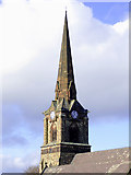 SO9098 : St Mark's Church spire in Wolverhampton by Roger  Kidd