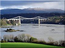 SH5571 : The Menai Suspension Bridge by John Lucas