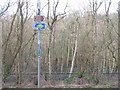 NT0086 : Footpath and NCN sign at Valleyfield by M J Richardson