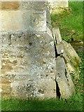 SK8707 : Bench mark, St Edmund;'s Church, Egleton by Alan Murray-Rust