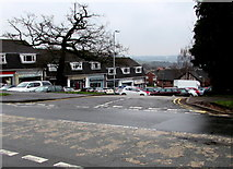 ST3091 : Larch Grove shops access road, Malpas, Newport by Jaggery
