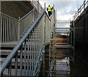 SK5702 : Steps inside the Freeman's Meadow Lock by Mat Fascione
