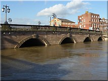 SO8454 : Worcester Bridge and a flooded River Severn by Philip Halling