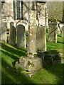 SK9508 : Medieval cross, Empingham churchyard by Alan Murray-Rust
