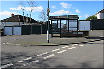 ST3090 : Bus stop and shelter on a Brynglas corner, Newport by Jaggery