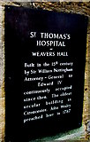 SP0202 : Black plaque on a 15th century building, Thomas Street, Cirencester by Jaggery
