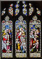 SK8261 : Stained glass window, St John the Baptist church, Collingham by Julian P Guffogg