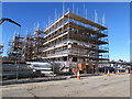 ST3188 : Rodney Road construction site, Newport by Jaggery