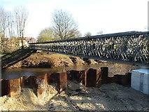 SE4843 : Tadcaster's temporary footbridge by Gordon Hatton