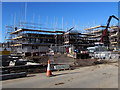 ST3188 : Muddy entrance to the Taylor Wimpey building site, Rodney Road, Newport by Jaggery