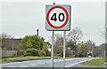 J4651 : 40 mph speed limit sign, Crossgar (February 2016) by Albert Bridge