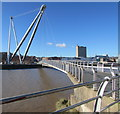 ST3187 : Newport City Footbridge and support structure by Jaggery
