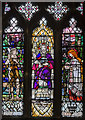 SK8261 : Stained glass window, St John the Baptist church, Collingham by Julian P Guffogg