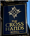 ST3388 : Cross Hands Hotel name sign, Newport by Jaggery