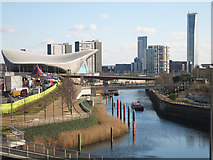 TQ3784 : River Lea in the Olympic Park by Des Blenkinsopp