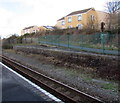 SM9310 : Disused platform at Johnston railway station by Jaggery