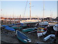 TQ2104 : Boats at Shoreham Yacht Club by Paul Gillett