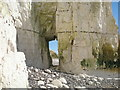 TV5397 : Natural arch below Rough Brow at the Seven Sisters, East Sussex by Adrian Diack
