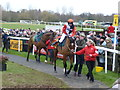 TF9228 : Victoria Pendleton mounts Pacha Du Polder at Fakenham racecourse by Richard Humphrey