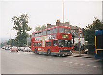 TQ3370 : Bus on Anerley Hill, Crystal Palace by Richard Vince