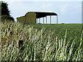 SU1124 : Dutch Barn on Tottens Down by Jon Alexander