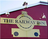 SM9310 : The Railway Inn name sign, Johnston by Jaggery