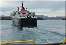NM8529 : CalMac Isle Of Mull ferry in Oban harbour by Peter Evans