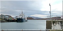 NM8529 : Lighthouse tender NLV Pharos moored at Oban by Peter Evans
