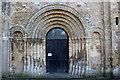 ST5393 : St. Mary's Priory Church Doorway, Chepstow by Chris Heaton