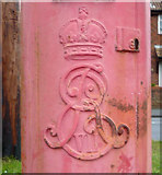 TA1181 : Cypher, Edward VII postbox on Scarborough Road, Filey by JThomas