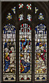 SK7755 : Stained glass window, St Wilfred's church, Kelham by Julian P Guffogg