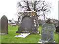 SN0801 : St Florence Church - large gravestone by welshbabe