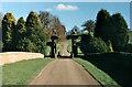 SK3820 : Staunton Harold Estate gates by Oliver Mills