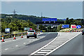 SK4090 : Northbound M1, Exit at Junction 34, Tinsley by David Dixon