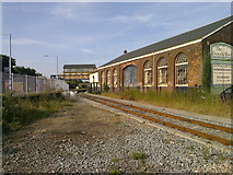 TR1458 : Signal Box and a siding at Canterbury West Station by Elliott Simpson
