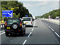 SK3696 : Northbound M1 near to Thorpe Hesley by David Dixon