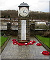 SO1403 : Roll of Honour and poppy wreaths, Tirphil War Memorial by Jaggery