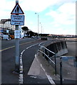 SH8479 : Warning sign  -  Cerddwyr ymlaen/Pedestrians ahead, Colwyn Bay by Jaggery