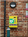 TM2863 : Defibrillator at the CoOp Framlingham by Adrian Cable