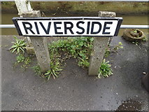 TM2863 : Riverside sign by Adrian Cable