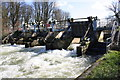 SP4307 : Weir at Pinkhill Lock: The Thames in full flow by Roger Templeman